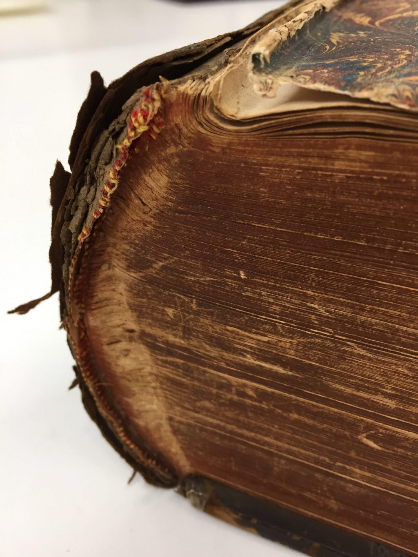 book-repair-red-rot-marbled-paper